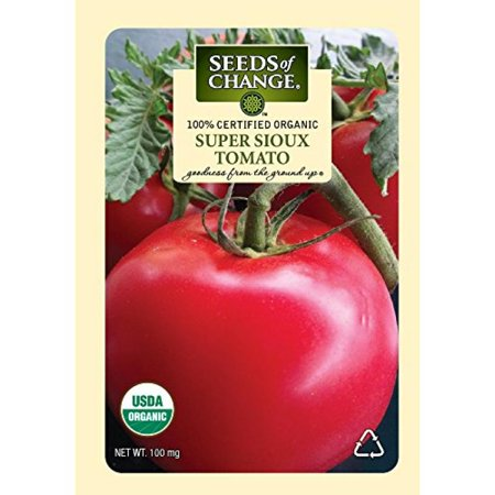 Image of Seeds of Change Certified Organic Tomato, Super Sioux - 100 milligrams, 25 Seeds Pack