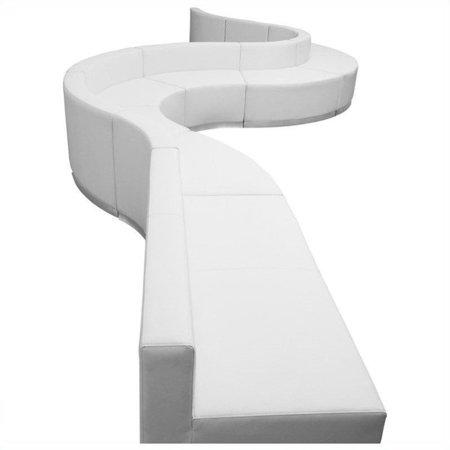 Flash Furniture Hercules Alon 9 Piece Reception Seating in White - image 2 de 2