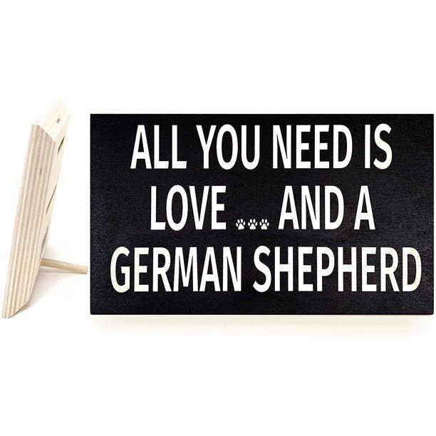 JennyGems - My Best Friend is a German Shepherd - Wooden Stand Up Box Sign - German Shepherd Moms Gift Series - German Shepherd Decor Signs - Rustic Farmhouse Box Sign -