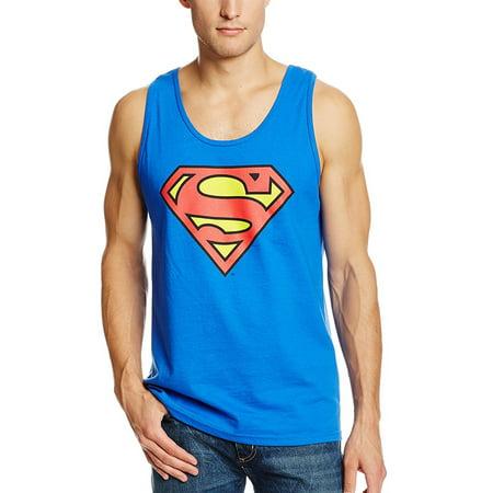 Man Front Tank - Superman Classic Logo Tank Top