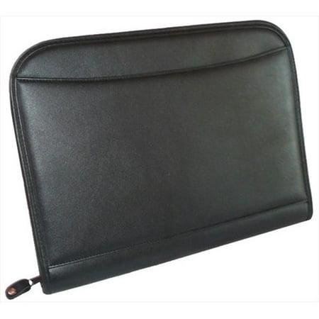 World Traveler ORG7104 Deluxe Business Organizer Pad-Folio with Calculator & Note Pad Black Calculator Padfolio