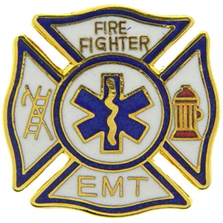 Firefighter & EMT Pin 1""