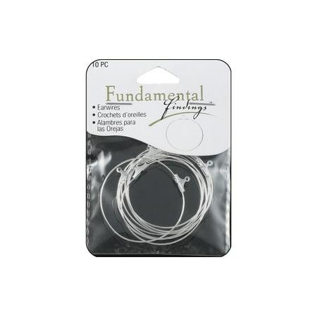 - Sweet Beads Fund Find Earring Hoop Lg 10pc Silver
