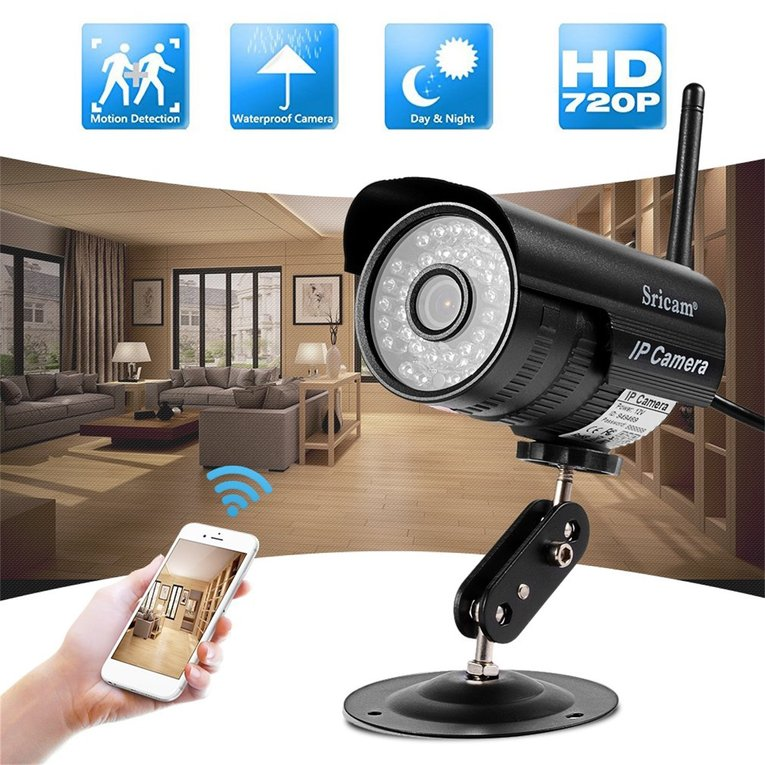 Led Wired Security Ip P2P Camera Ir Night Vision Support Wifi Network
