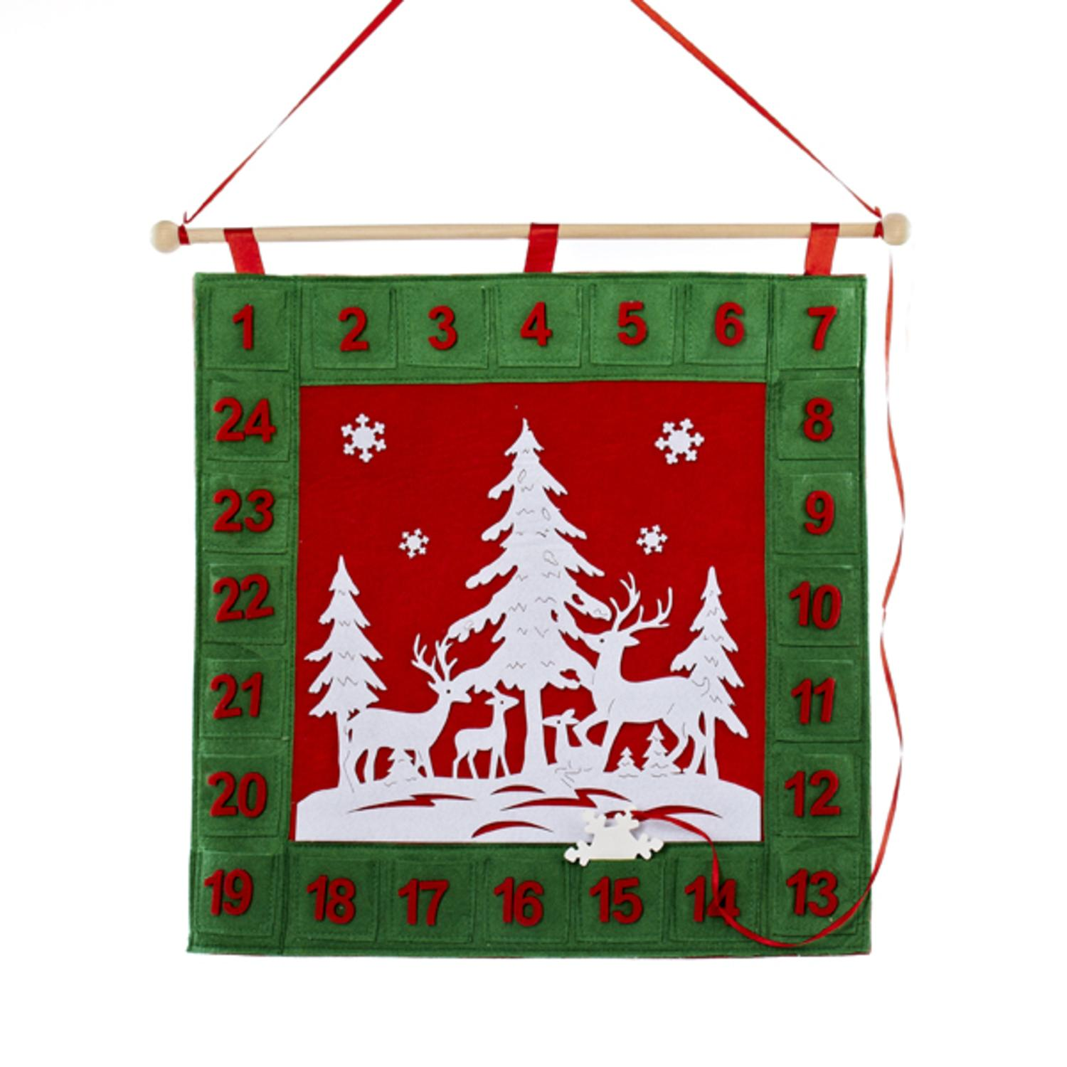 18 5 Red Green And White Advent Calendar Countdown Christmas