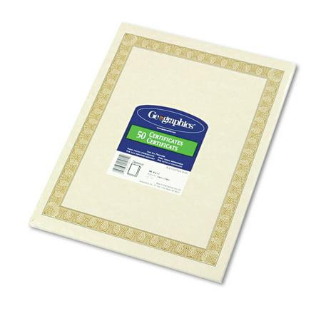 Geographics Parchment Paper Certificates, 8-1/2 x 11, Natural ...
