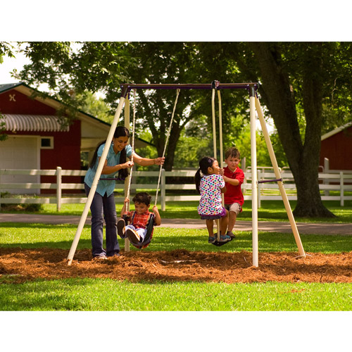 Flexible Flyer Brighton II Metal Swing Set