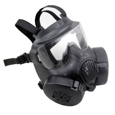 Cosplay CS Wargame Airsoft Double Filter Fan Safety Gas Mask Tactical Perspiration Dust Full Face Prop - Deadpool Cosplay Buy