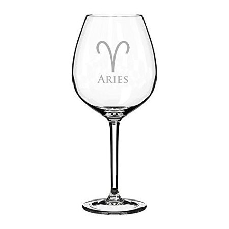 Wine Glass Goblet Horoscope Zodiac Birth Sign  20 Oz  Aries