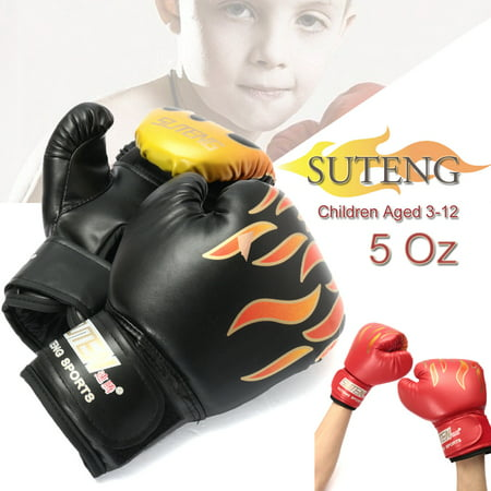 6oz Pu Kids Boxing Gloves Age 3 12 Junior Punch Bag Mma Sparring Dajn Training Red Black Canada