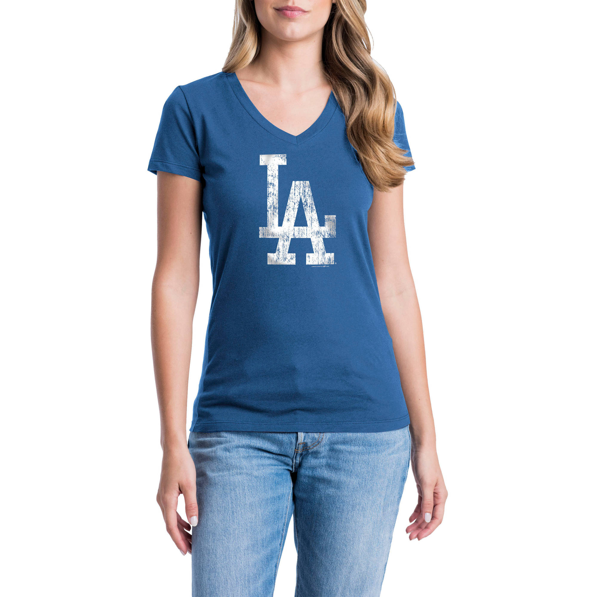 Los Angeles Dodgers Womens Short Sleeve Graphic Tee
