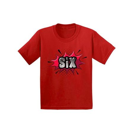 a2c11fec Awkward Styles 6th Birthday Shirt Sixth Birthday Shirt for Boys Girls 6th  Birthday Giftd for 6 Year Old Kids Pop Art Superhero Shirts for Youth Comic  Book ...