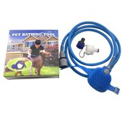 Dog Cat Bath Shower Pet Animal Water Sprayer Sprinkler Pet Bathing Tool,Blue