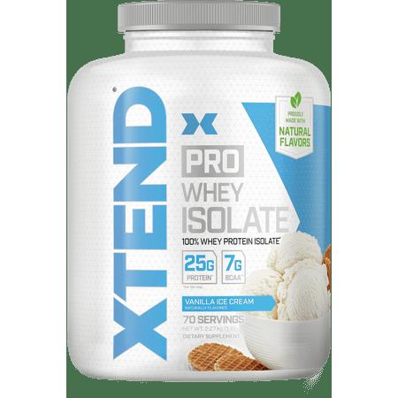Xtend Pro, Whey Protein Isolate + BCAA Recovery Powder, 5lb, Vanilla Ice Cream