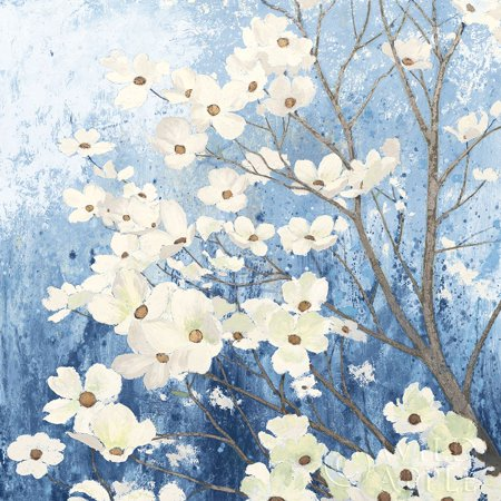 Dogwood Blossoms I Indigo Poster Print by James (Dogwood Mall)