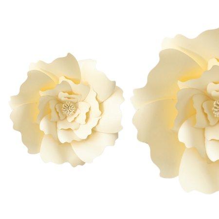 LeKing 30CM DIY Paper Flower Background Decoration Artificial Flower Wedding Like Birthday Home Decorations DIY Rose Paper Flower Wedding Crafts Baby Kindergarten Video Tutorial - image 1 of 2