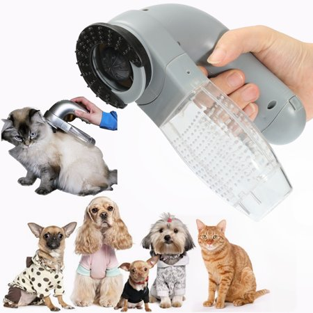 - Dog Cat Pet Handheld Electric Hair Grooming Vacuum Cleaner Fur Shedding Remover Trimmer Brush Comb