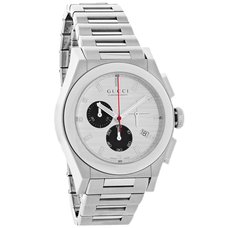 Gucci 115 Pantheon Mens Silver Date Swiss Chronograph Qua...