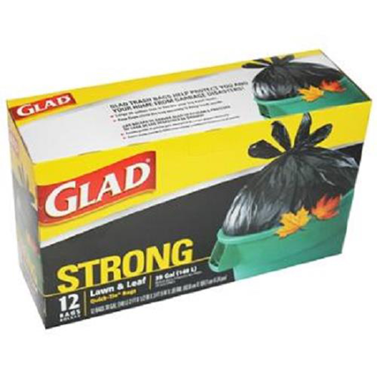 Product Of Glad, Strong Lawn & Leaf Quick Tie Bags, Count 1 (39Gal) - Garbage Bags / Grab Varieties & Flavors