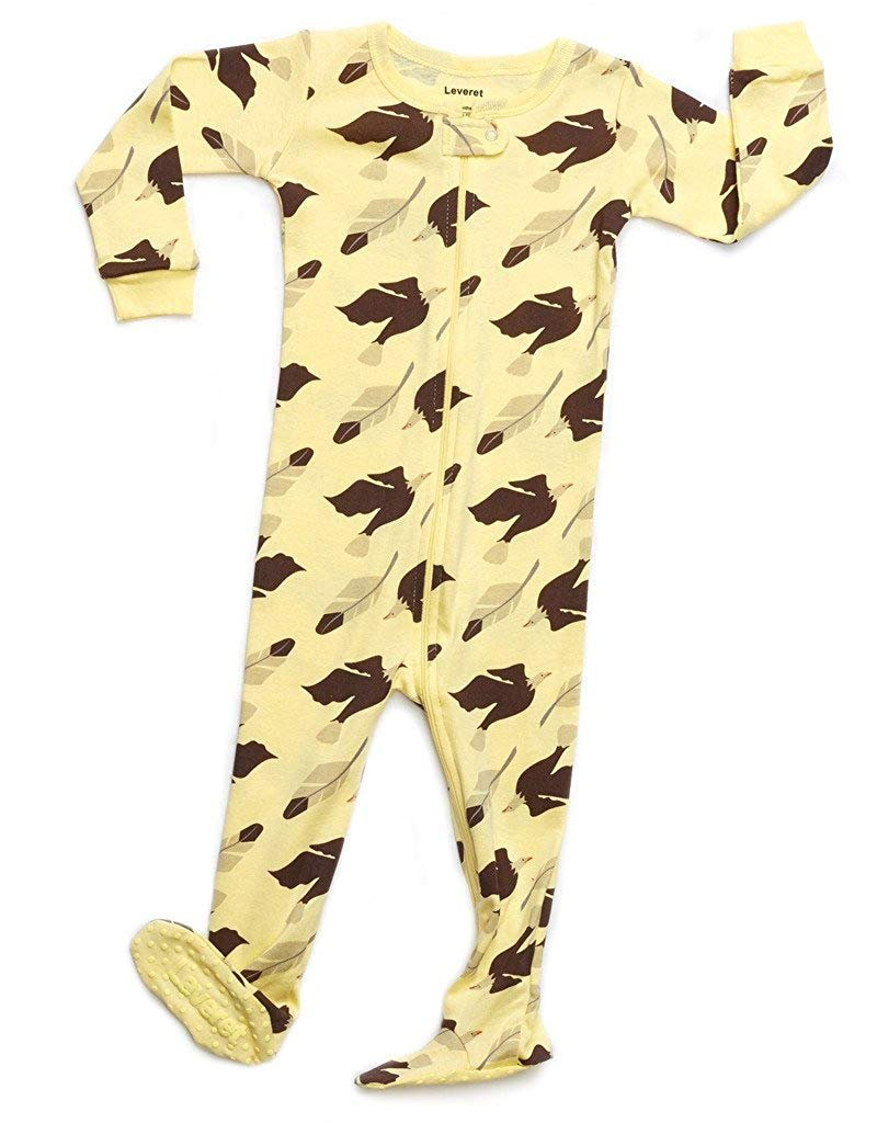 Leveret Organic Cotton Eagle Footed Pajama Sleeper 6-12 Months