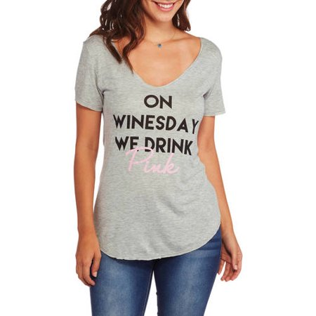 Women's Save Water Drink Wine Graphic Tee