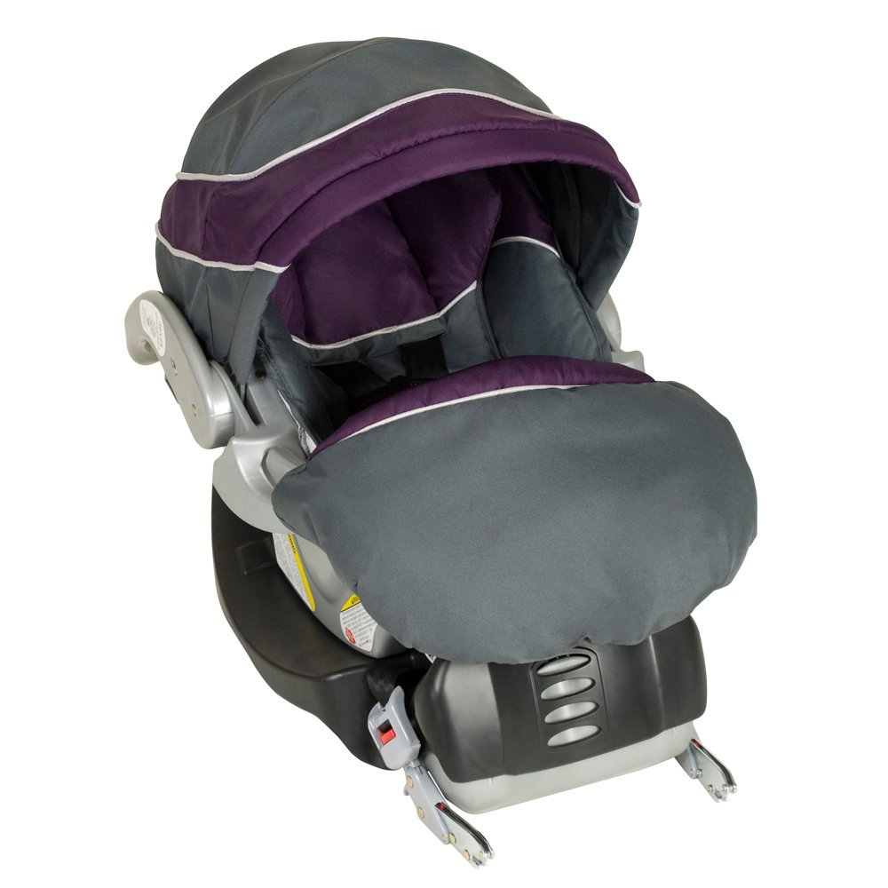 Baby Trend Flex Loc Baby Infant Car Seat with Boot Cover and Base, Purple Elixer