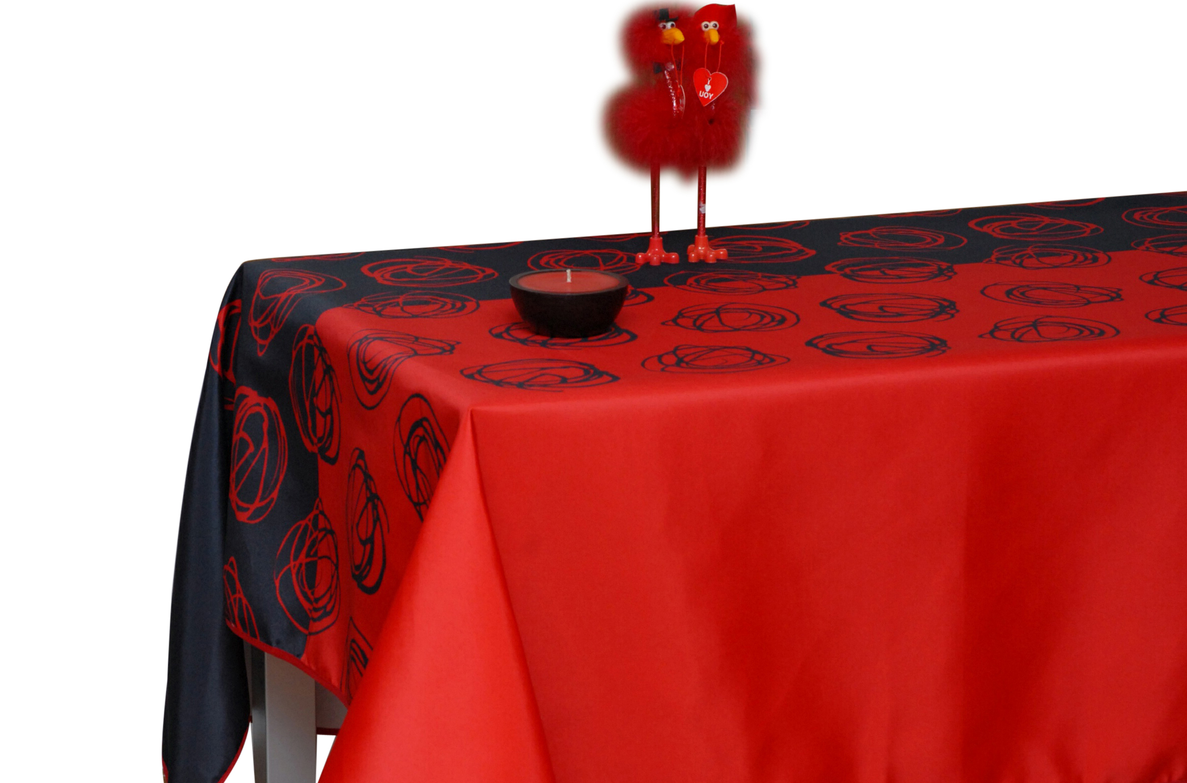 Great Tablecloth Red And Black Swirl Flamenco, Stain Resistant, Washable, Liquid  Spills Bead Up, 60 X 95 Inch Rectangular, Seats 8 To 10 People (Other Size  ...