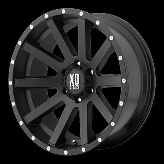 Wheel Pros 1889050730 Xd818- Heist, Satin Black With Milled Flang, 18 x 9 inch