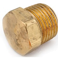 Anderson Metal Corp 756121-04 Plug Cored Hex Head Mpt 1/4