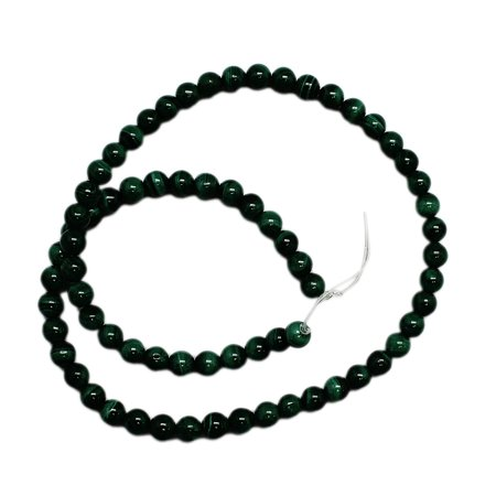 6mm Round Green Malachite Stone Bead Strand (71 Piece) (Malachite Chip Beads)