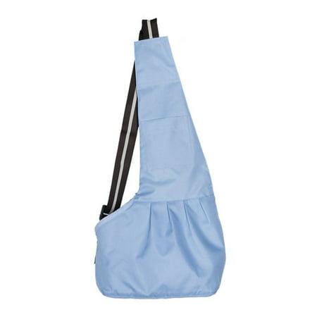 CBD Durable Oxford Cloth Zipper Closure Pet Dog Cat Carrier Bag Messenger Bag Light blue