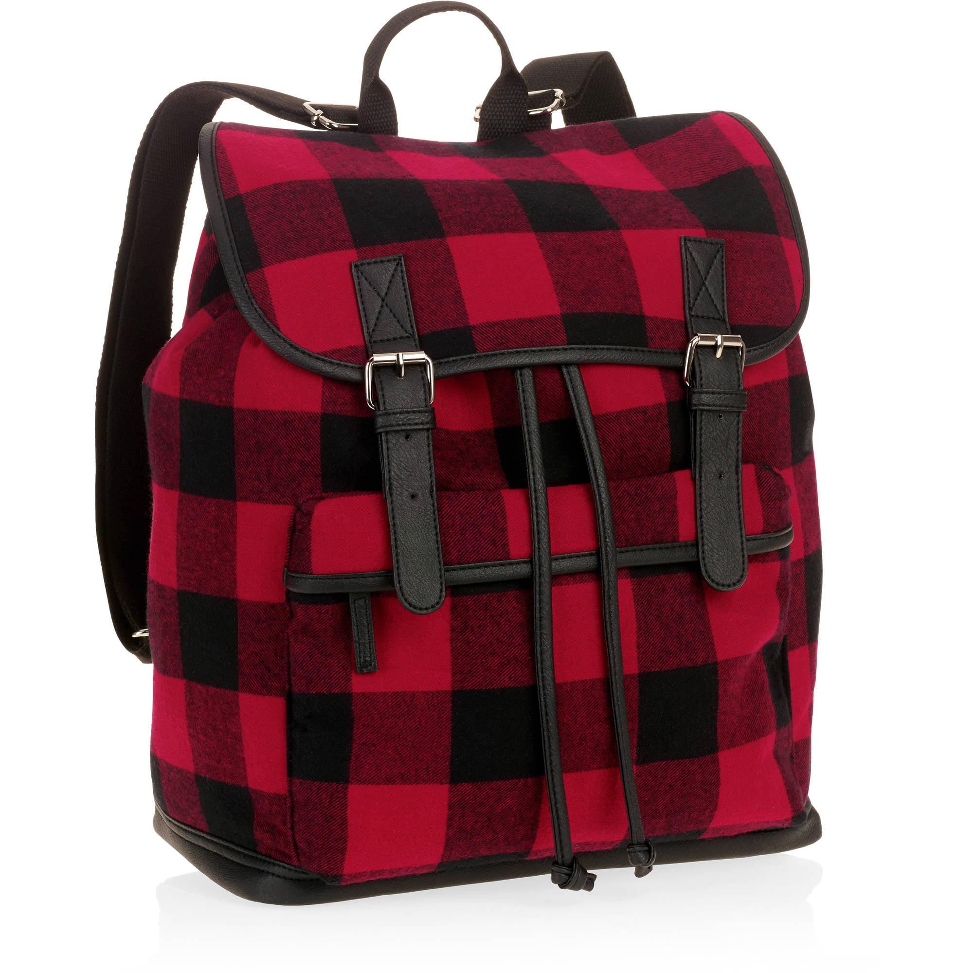Women's Red Plaid Backpack - Walmart.com