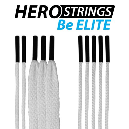 (1-Pack) Lacrosse HeroStrings Pro Stringing Kit White HM-Strings-Wht-1P By East Coast Dyes Ship from