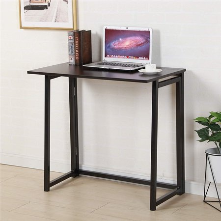 Folding Laptop Table Portable Writing Computer Desk Modern Simple Study Desk No Assembly Required,31.5 x 17.7 x 28.7 Inches Studio Writing Desk
