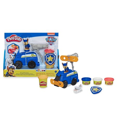 Play-Doh PAW Patrol Rescue Rolling Chase Toy Police Cruiser Figure and Vehicle Set with 4 Non-Toxic Colors (5 oz)