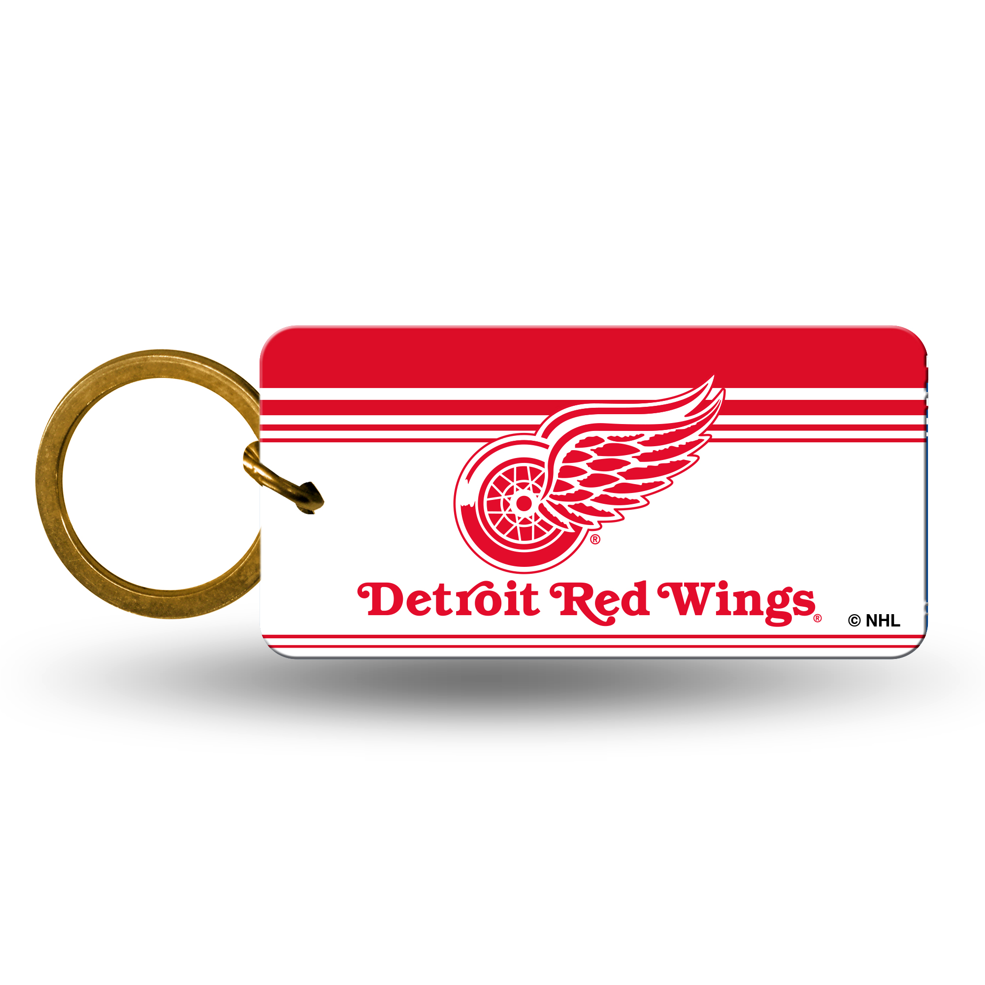 Detroit Red Wings Official NHL 2 inch  Crystal View Key Chain Keychain by Rico Industries