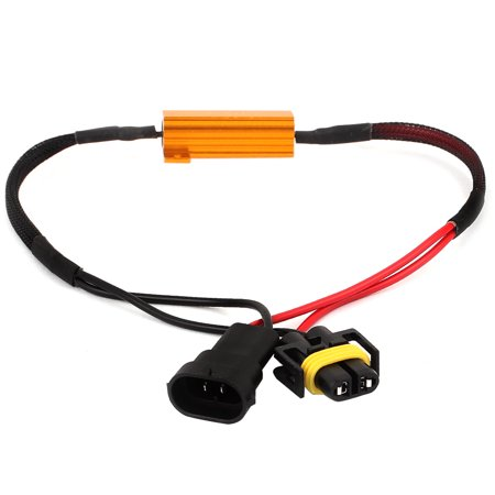 Unique Bargains Unique Bargains Car Warning Error Canceller Load Resistor Decoder Cable for H11  Bulbs