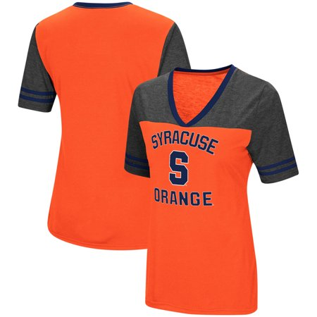 sports shoes 62ca7 007a1 Syracuse Orange Colosseum Women's The Whole Package Jersey V-Neck T-Shirt -  Orange
