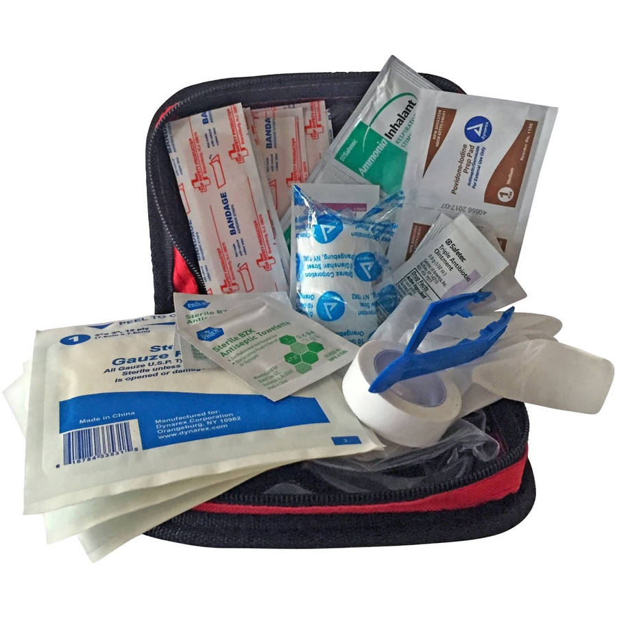 Primacare KB-7411 Red Nylon Personal First Aid Kit by