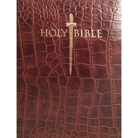 Holy Bible: King James Version Easy Read, Alligator / Walnut, Bonded Leather, Thinline