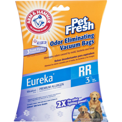 Arm & Hammer Eureka Pet Fresh Odor Eliminating Eureka Vacuum Bags, 6-Pack
