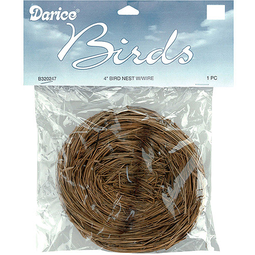 "Bird Nest With Wire, 4"", 1/Pkg, Natural"