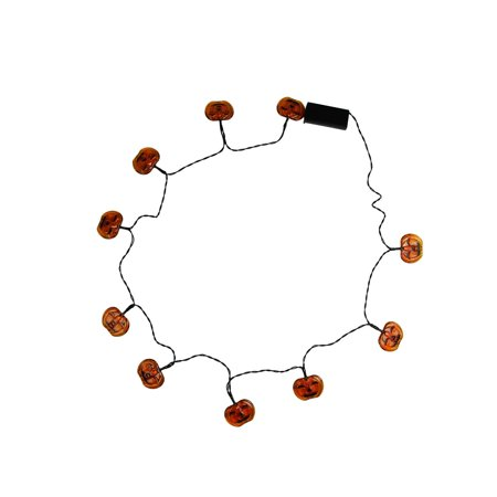 Set of 90 Battery Operated Skull, Spider and Jack-o-Lantern LED Halloween Lights - Black Wire - image 1 of 2