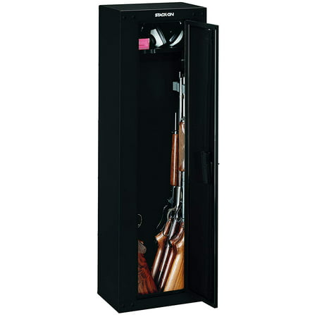 Stack-On Ready-to-Assemble 8 Gun Cabinet, Black