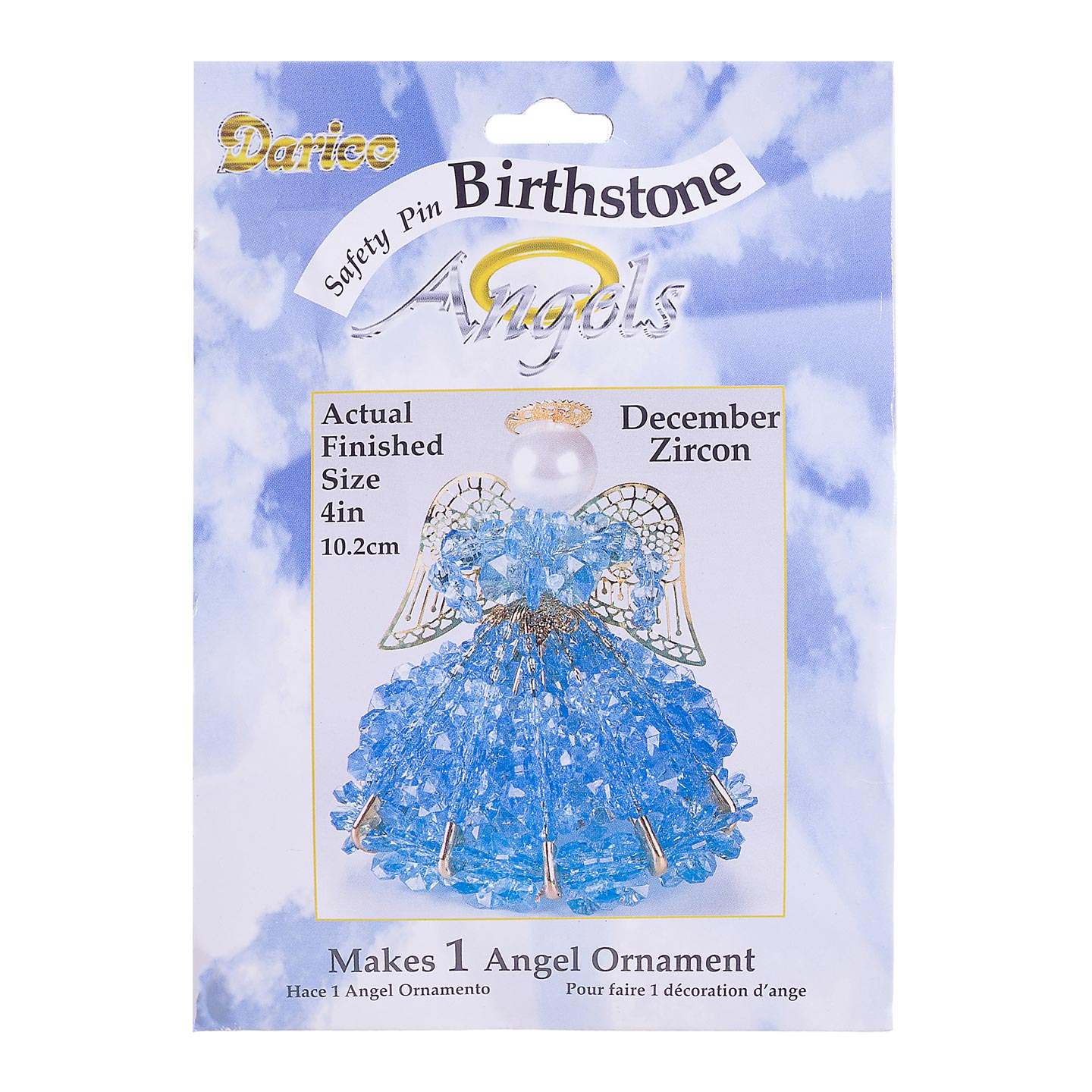 Safety Pin Angel Bead Kit and Crafts: December/ Zircon
