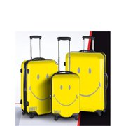 Smiley 3001-3 Smiley Classic Luggage, Yellow - 3 Piece