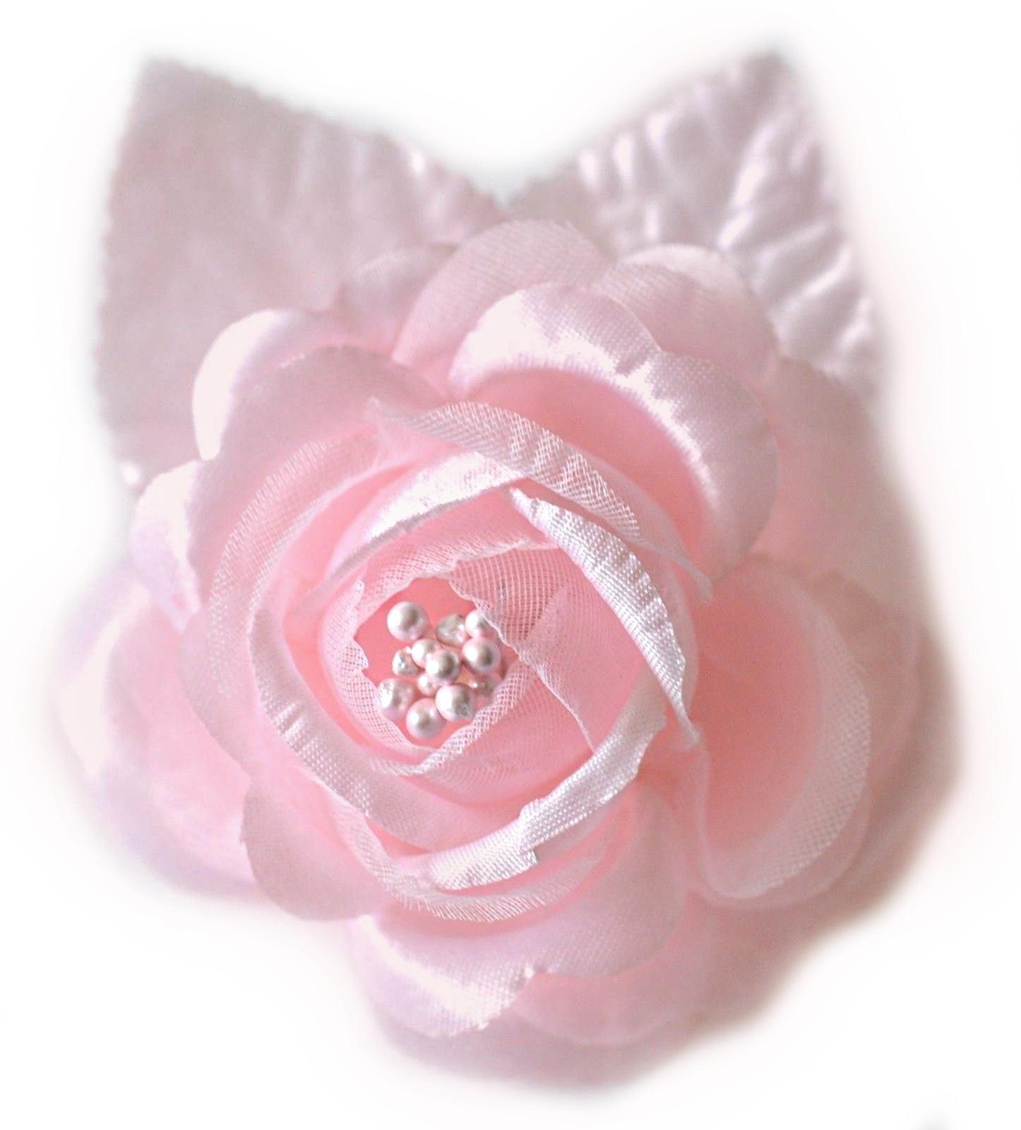 12 Silk Roses Wedding Favor Flower Corsage Pick Pink Walmart