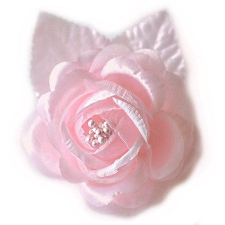Flower Picks (12 Silk Roses Wedding Favor Flower Corsage Pick -)