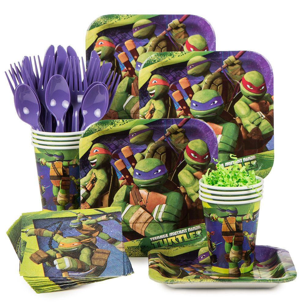 Teenage Mutant Ninja Turtles Birthday Party Standard Tableware Kit serves 8 - Party Supplies