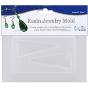 """Resin Jewelry Reusable Plastic Mold, Triangle, 3.5"""" x 4.5"""""""